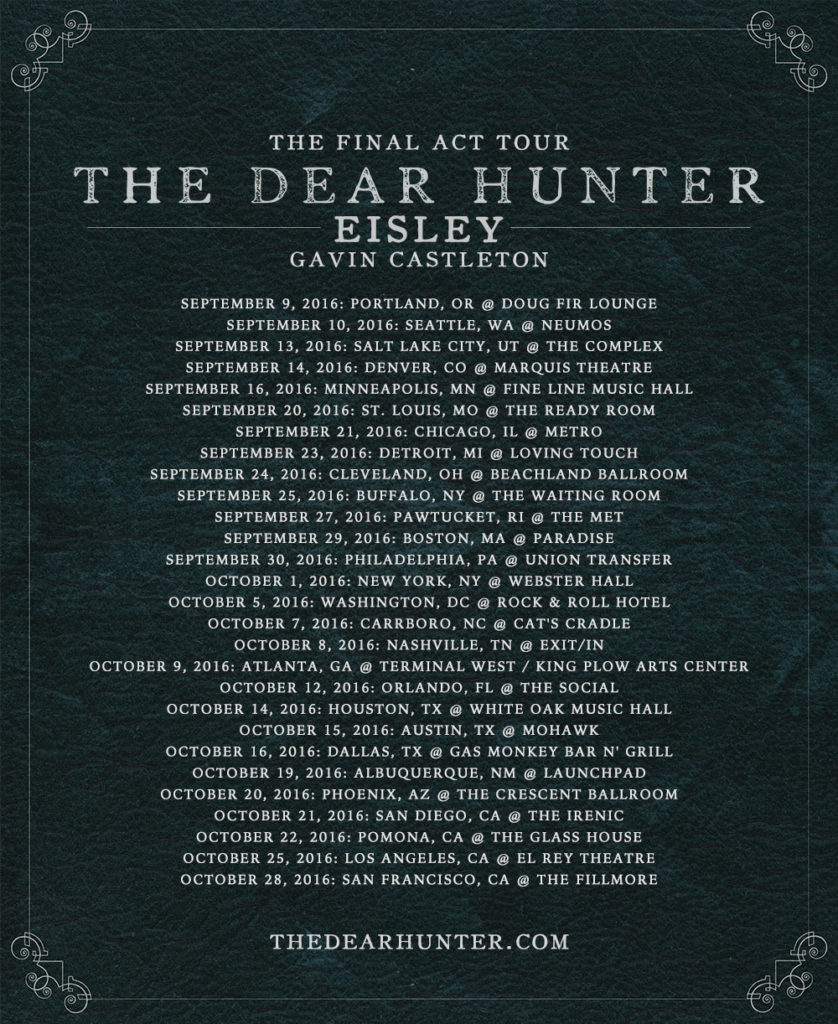 TheDearHunter-FinalActTour-Dates